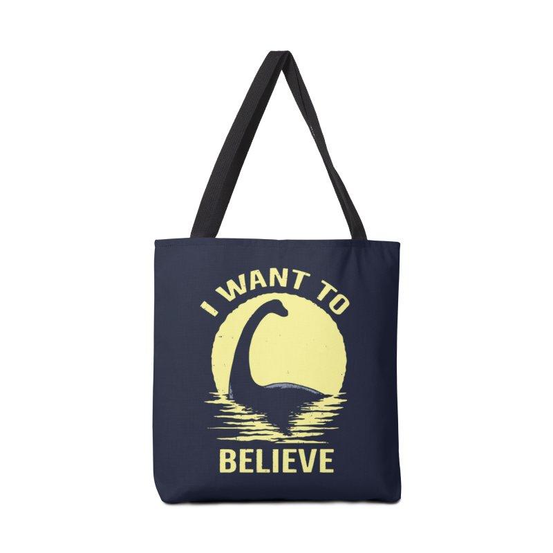 Believe in Nessie Accessories Bag by Threadless Artist Shop