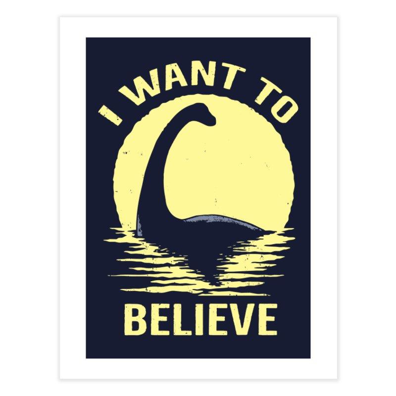 Believe in Nessie Home Fine Art Print by Threadless Artist Shop