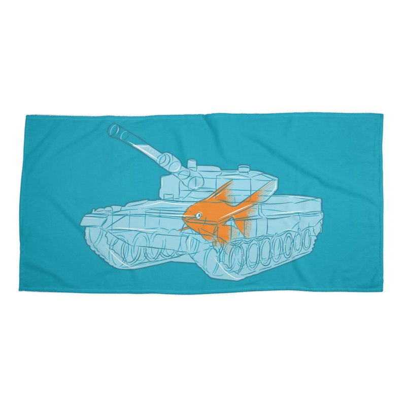 Fish Tank Accessories Beach Towel by Threadless Artist Shop
