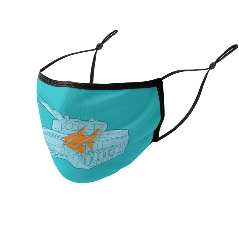 Fish Tank Accessories Face Mask by Threadless Artist Shop