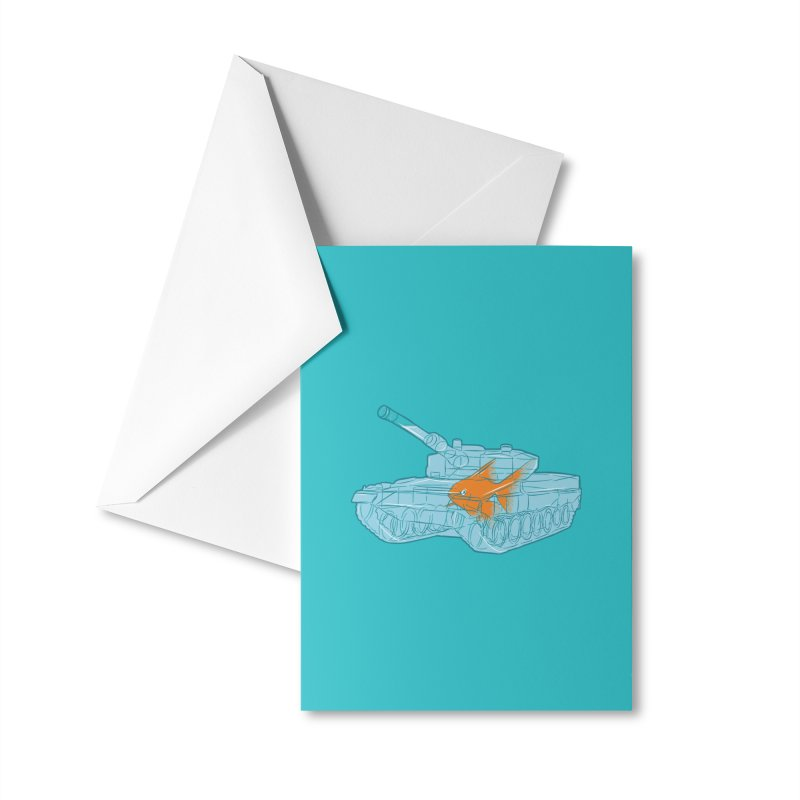 Fish Tank Accessories Greeting Card by Threadless Artist Shop