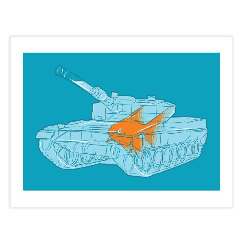 Fish Tank Home Fine Art Print by Threadless Artist Shop