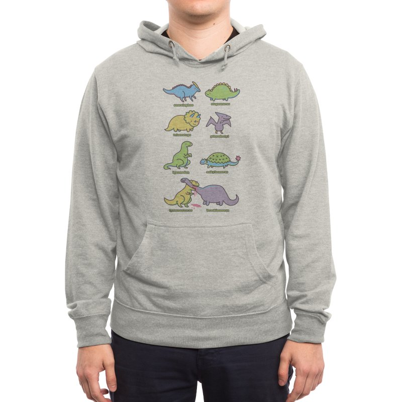 Know Your Dinosaurs Men's Pullover Hoody by Threadless Artist Shop