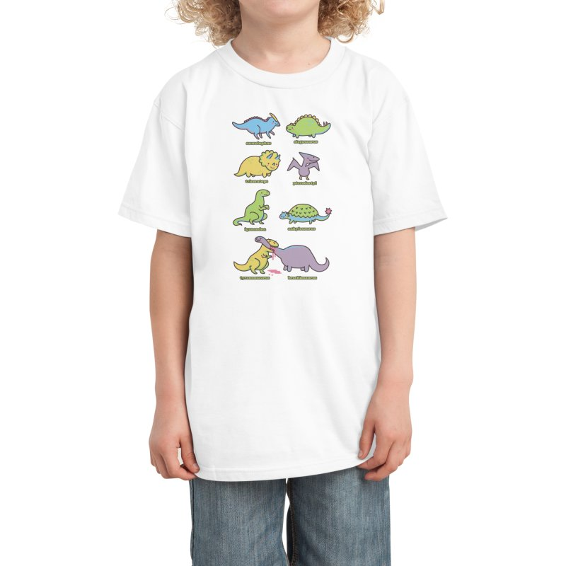 Know Your Dinosaurs Kids T-Shirt by Threadless Artist Shop