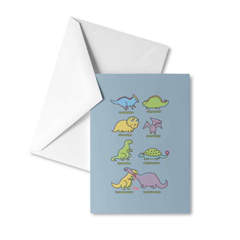 Know Your Dinosaurs Accessories Greeting Card by Threadless Artist Shop