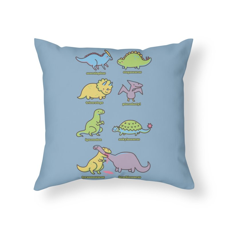 Know Your Dinosaurs Home Throw Pillow by Threadless Artist Shop