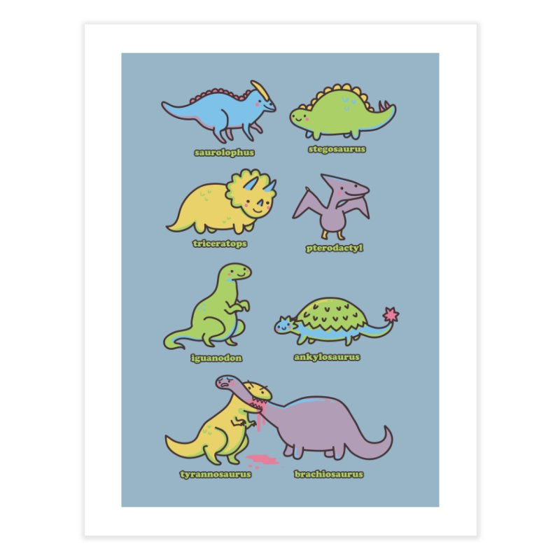 Know Your Dinosaurs Home Fine Art Print by Threadless Artist Shop