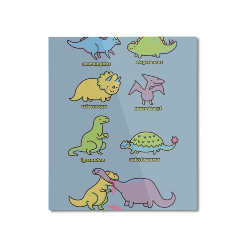 Know Your Dinosaurs Home Mounted Aluminum Print by Threadless Artist Shop