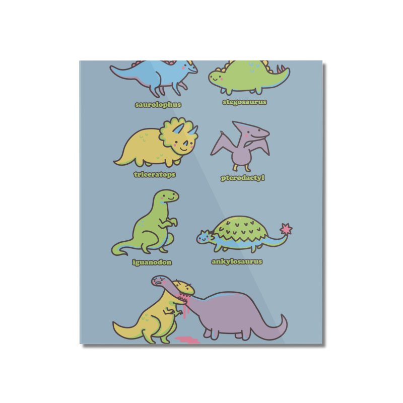 Know Your Dinosaurs Home Mounted Acrylic Print by Threadless Artist Shop