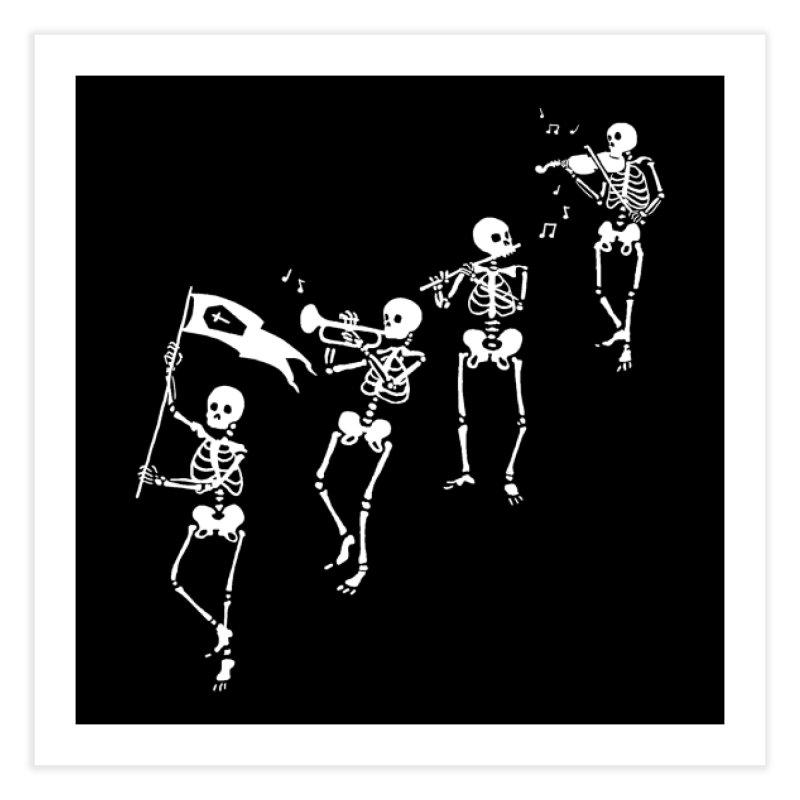 Bag o' Bones Boogie Home Fine Art Print by Threadless Artist Shop