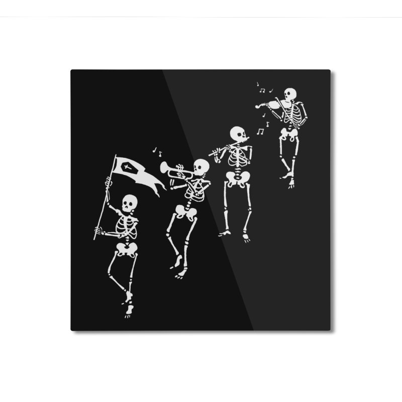 Bag o' Bones Boogie Home Mounted Aluminum Print by Threadless Artist Shop