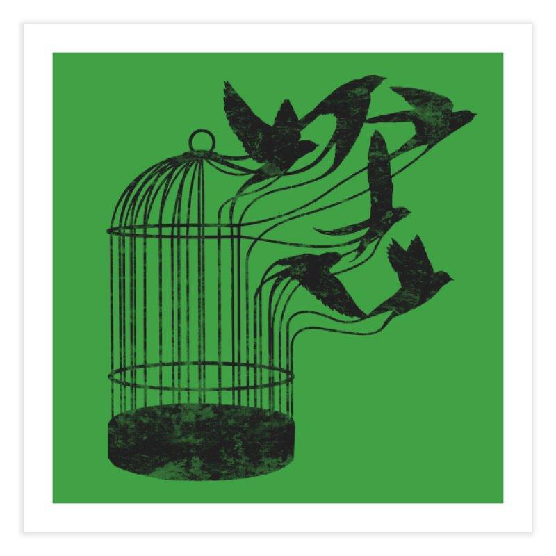 Breaking Through to Freedom Home Fine Art Print by Threadless Artist Shop