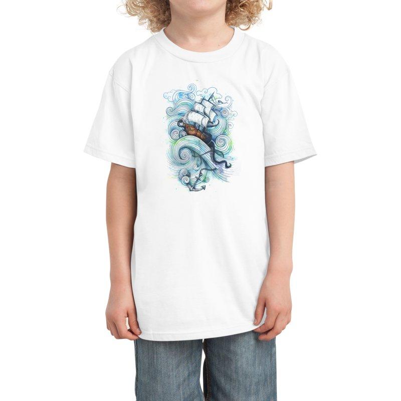 Long Journey Kids T-Shirt by Threadless Artist Shop
