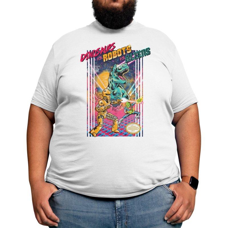 Dinosaurs vs. Robots vs. Aliens Men's T-Shirt by Threadless Artist Shop