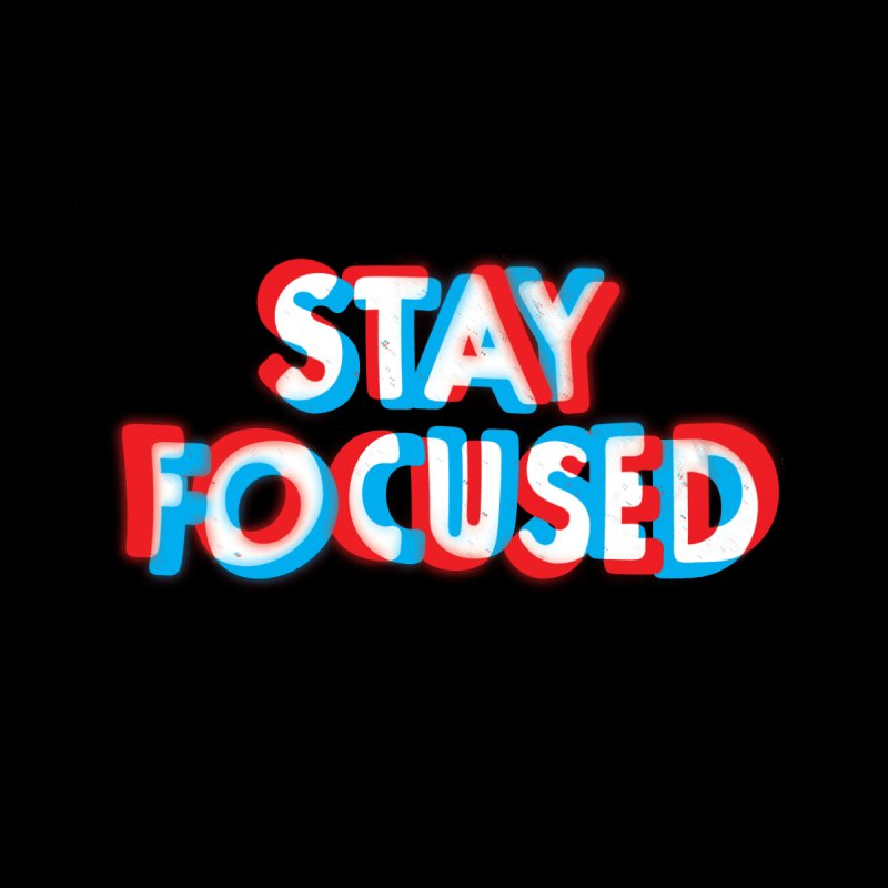 Stay Focused Accessories Bag by Threadless Artist Shop