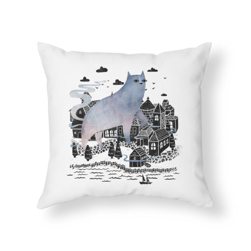 The Fog Home Throw Pillow by Threadless Artist Shop