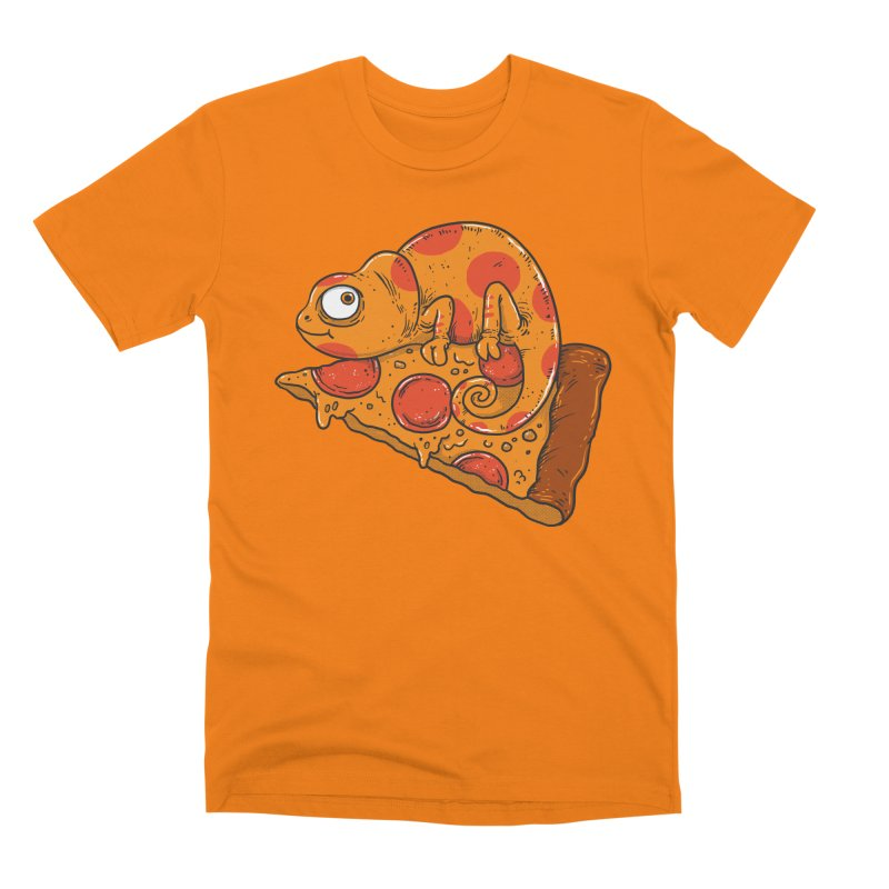 Pizza Chameleon Men's T-Shirt by Threadless Artist Shop