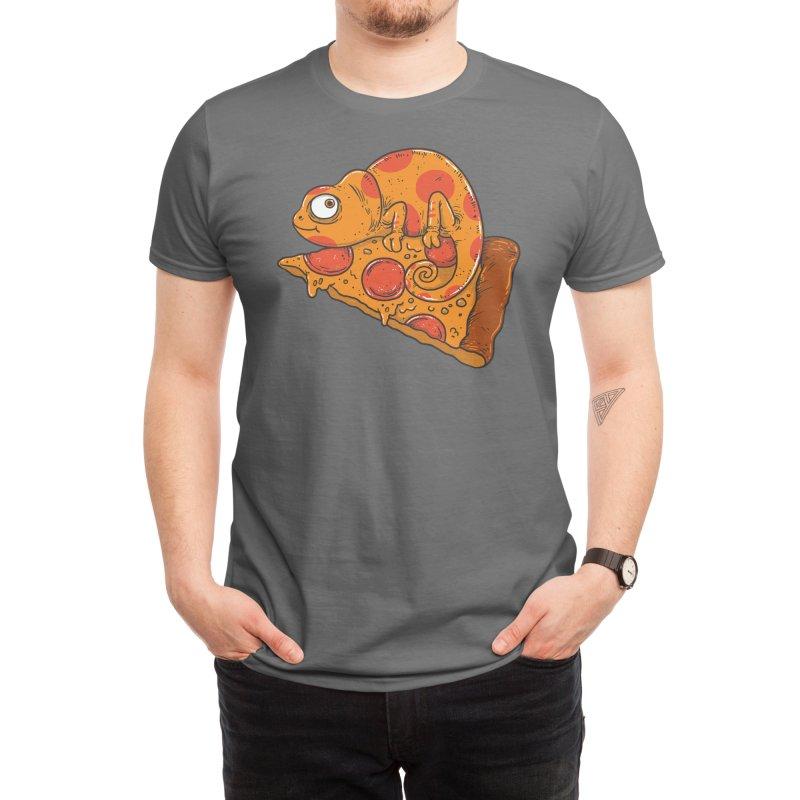 Pizza Chameleon Men's T-Shirt by Threadless Artist Shop