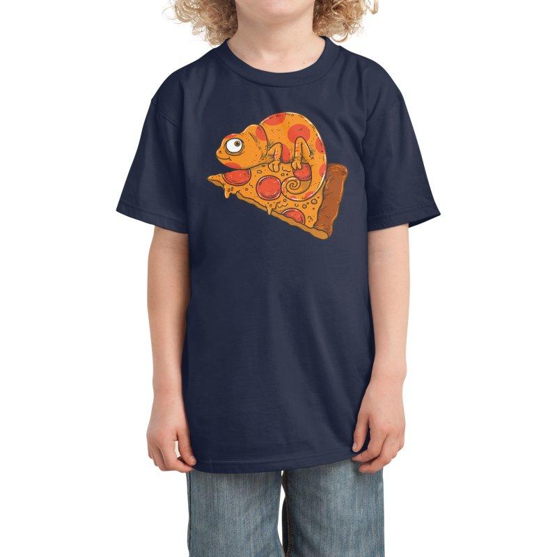 Pizza Chameleon Kids T-Shirt by Threadless Artist Shop