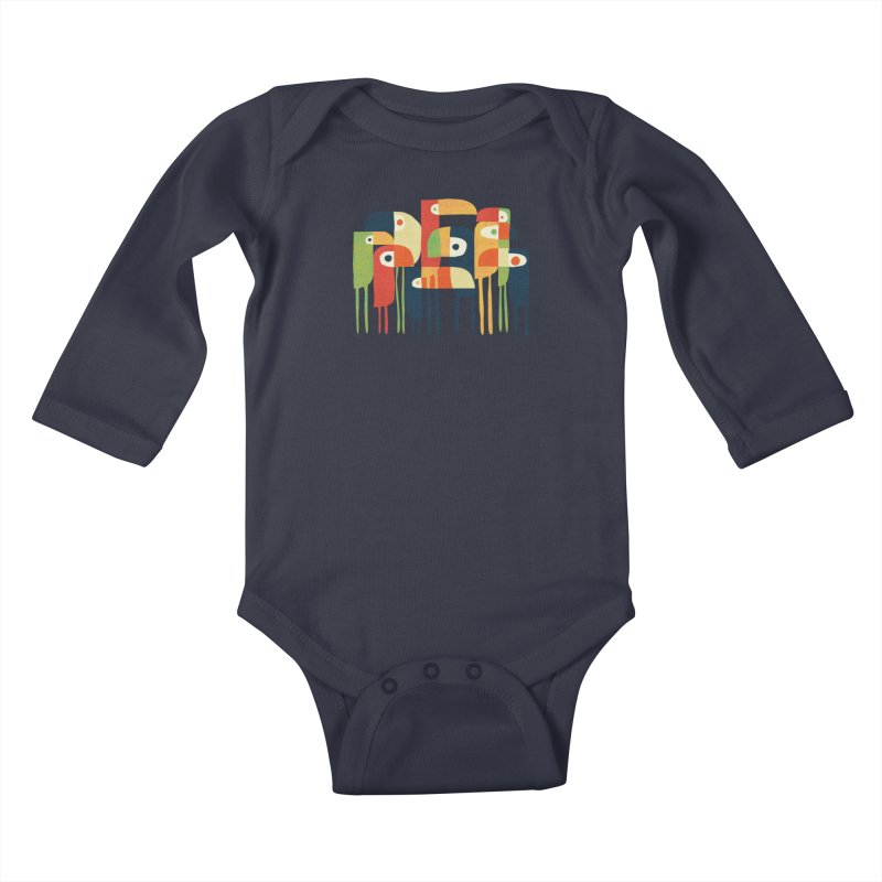 Tropical Toucan Kids Baby Longsleeve Bodysuit by Threadless Artist Shop