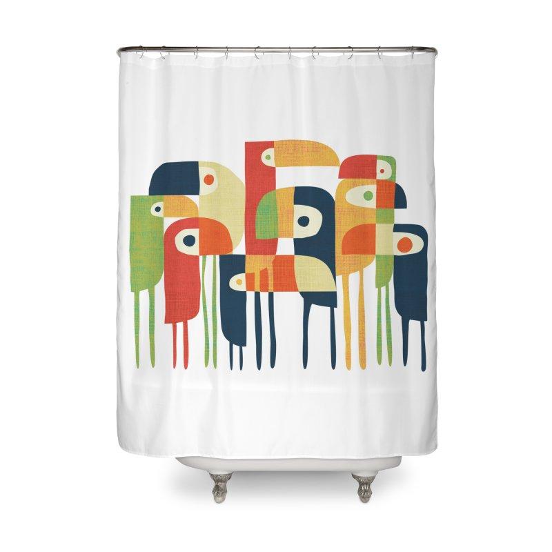 Tropical Toucan Home Shower Curtain by Threadless Artist Shop