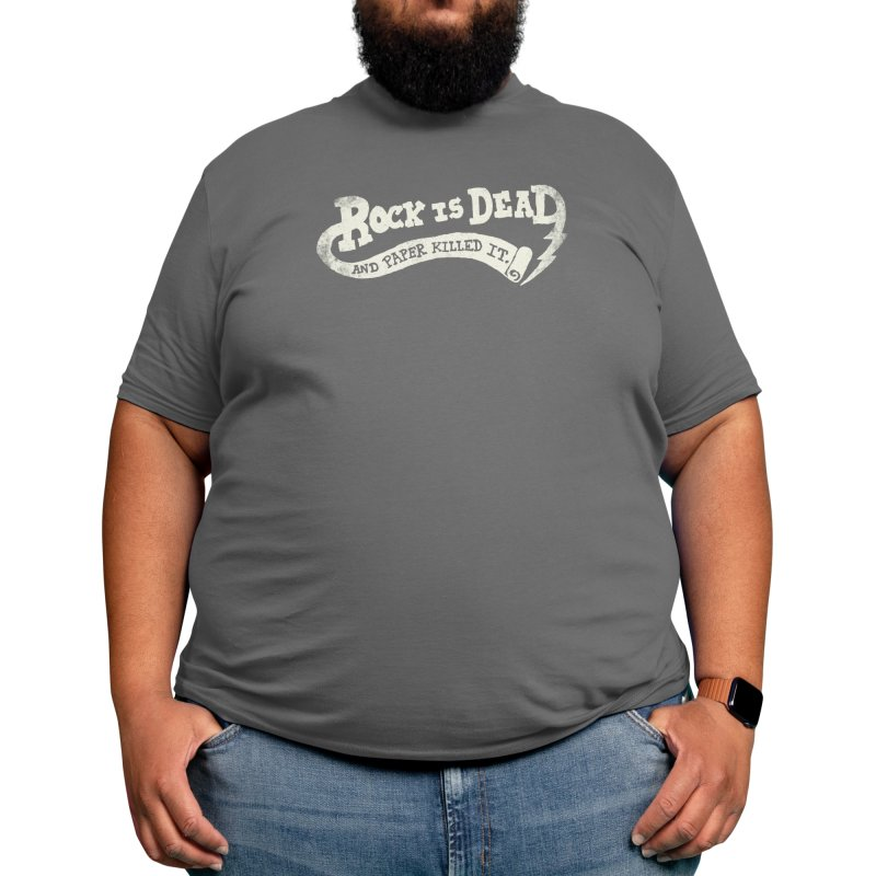 Rock Is Dead and Paper Killed It. Men's T-Shirt by Threadless Artist Shop