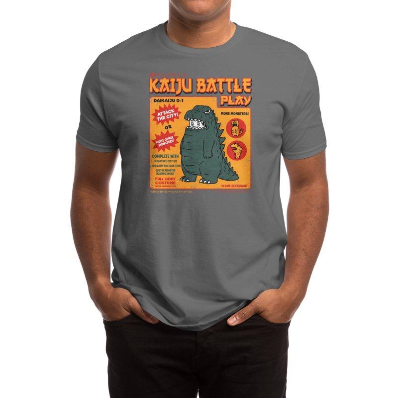 Kaiju Battle Play Men's T-Shirt by Threadless Artist Shop