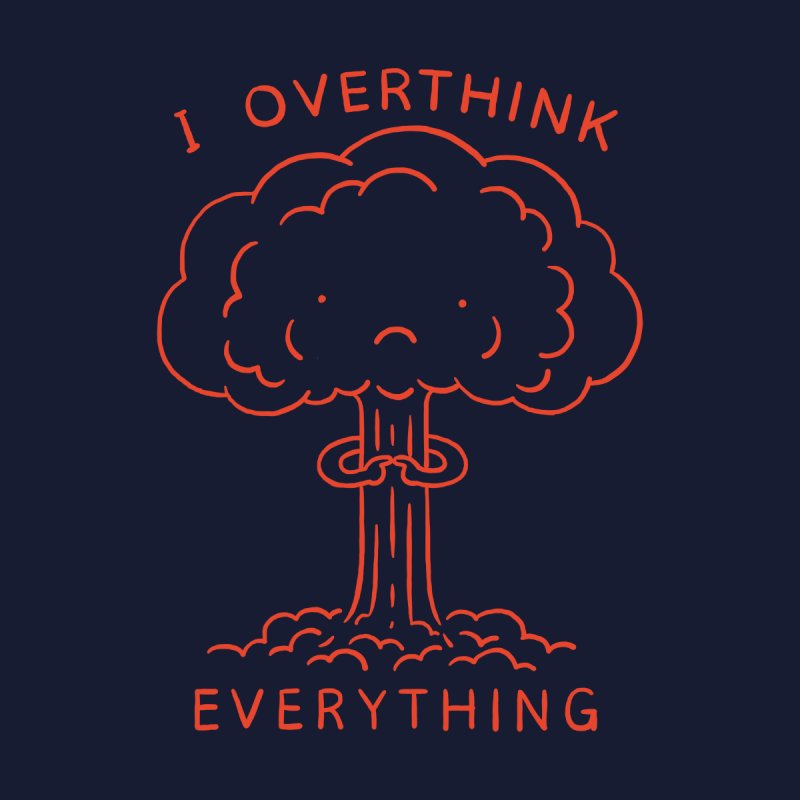 Overthink Women's Sweatshirt by Threadless Artist Shop