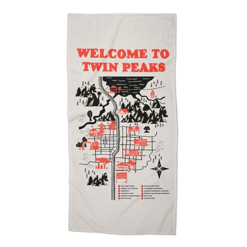 Welcome to Twin Peaks Accessories Beach Towel by Threadless Artist Shop