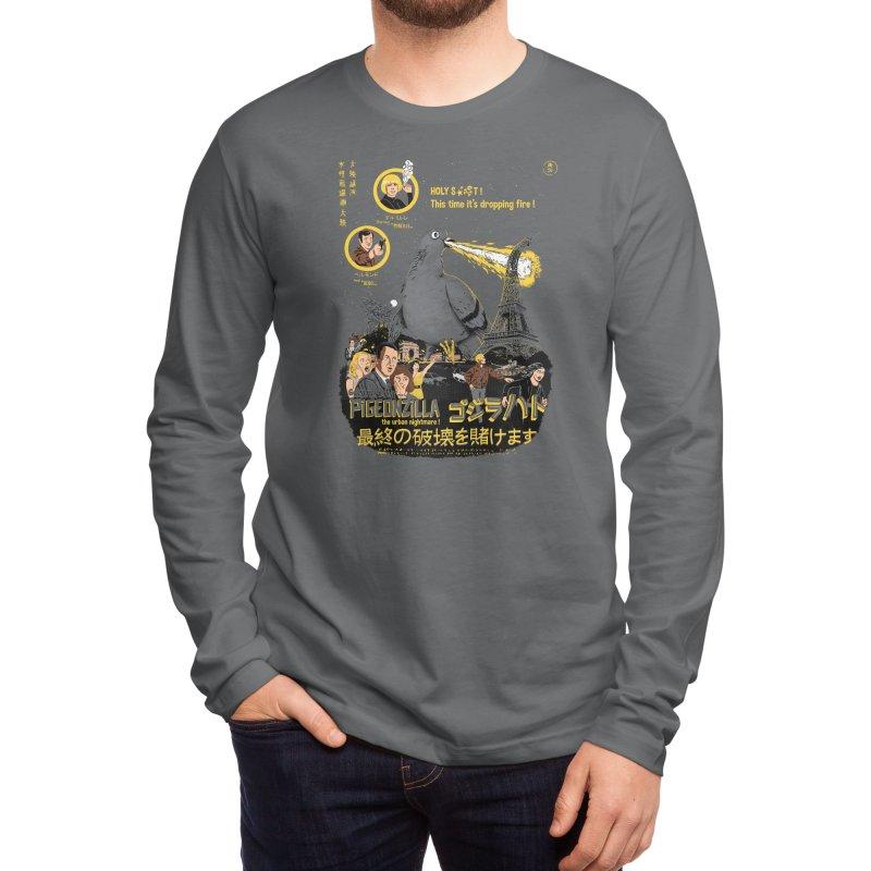 PIGEONZILLA omg! Men's Longsleeve T-Shirt by Threadless Artist Shop