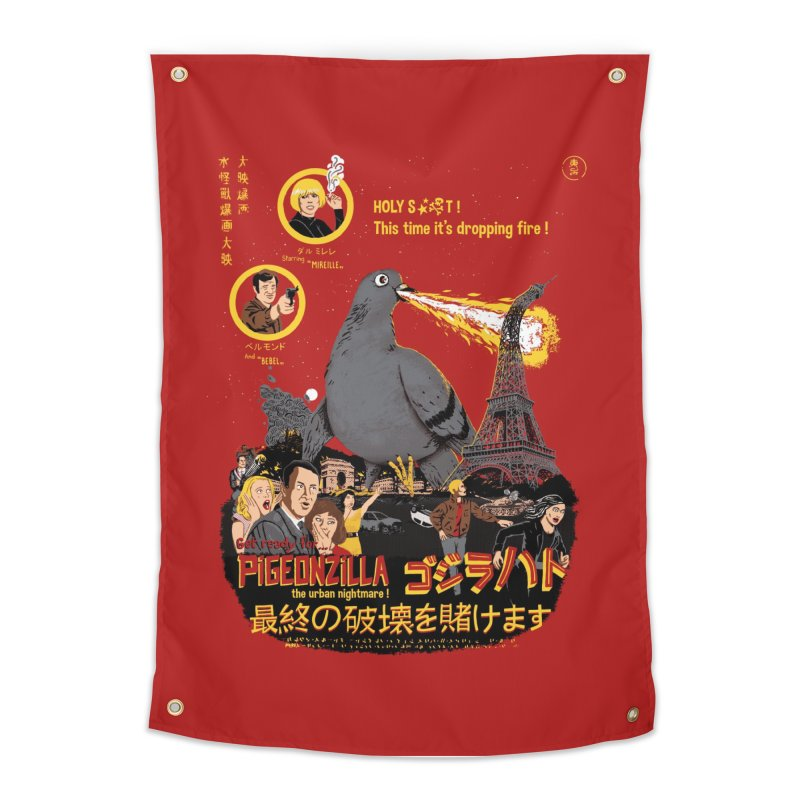 PIGEONZILLA omg! Home Tapestry by Threadless Artist Shop