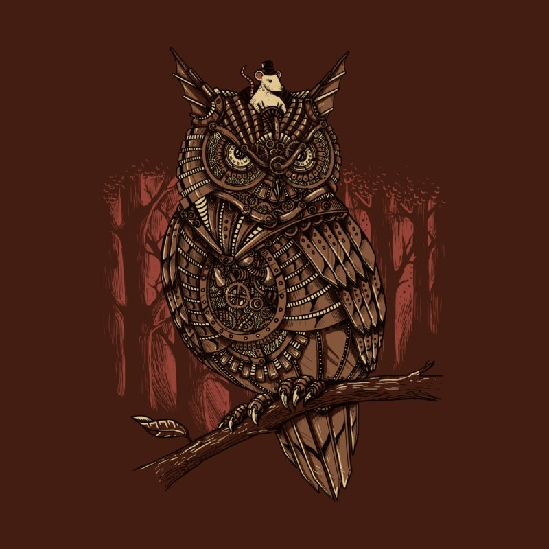 Mechanic-owl King Accessories Bag by Threadless Artist Shop
