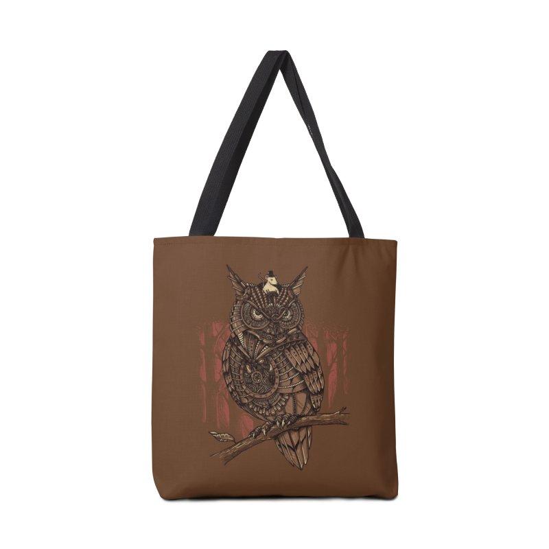 Mechanic-owl King Accessories Bag by Threadless Artist Shop