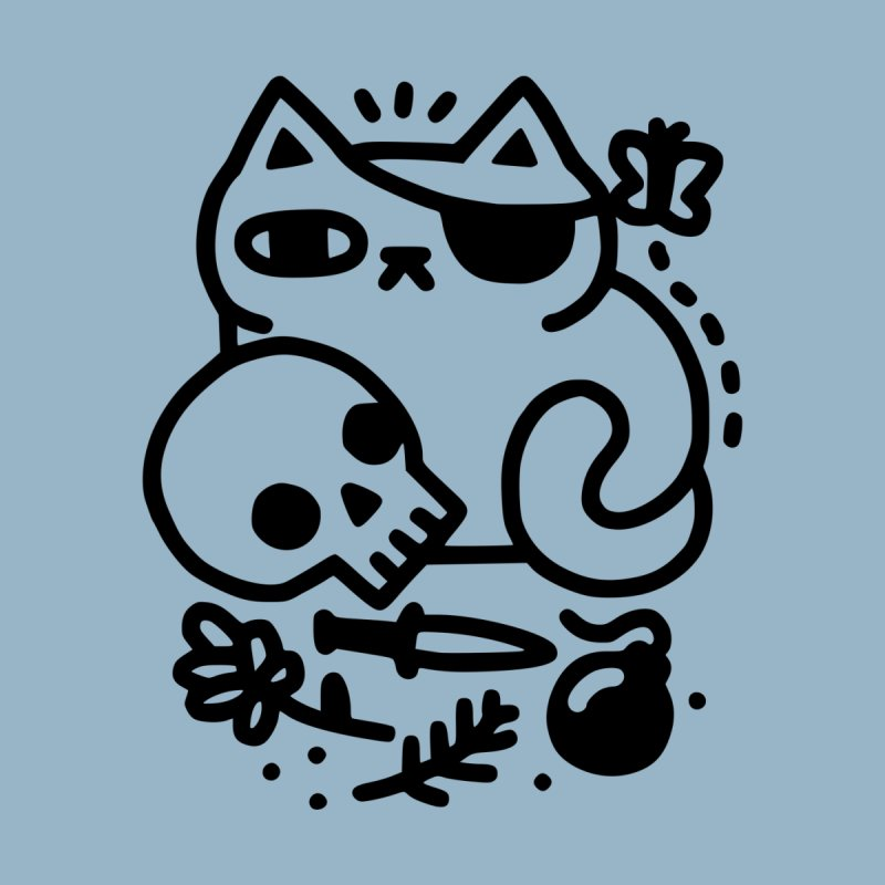 Badass Cat Men's Sweatshirt by Threadless Artist Shop