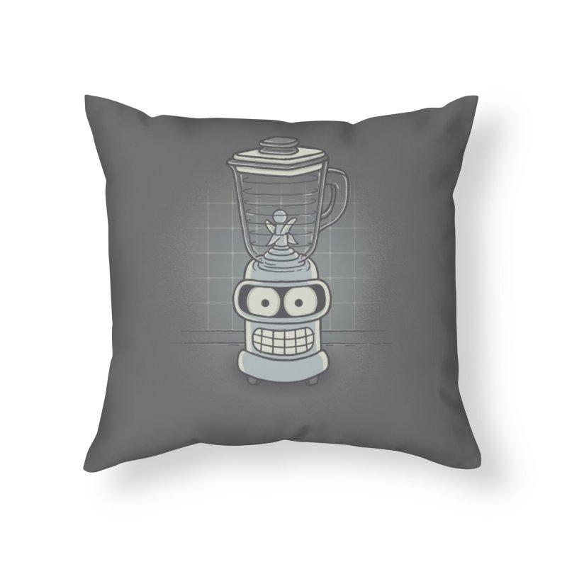 Blender Home Throw Pillow by Threadless Artist Shop