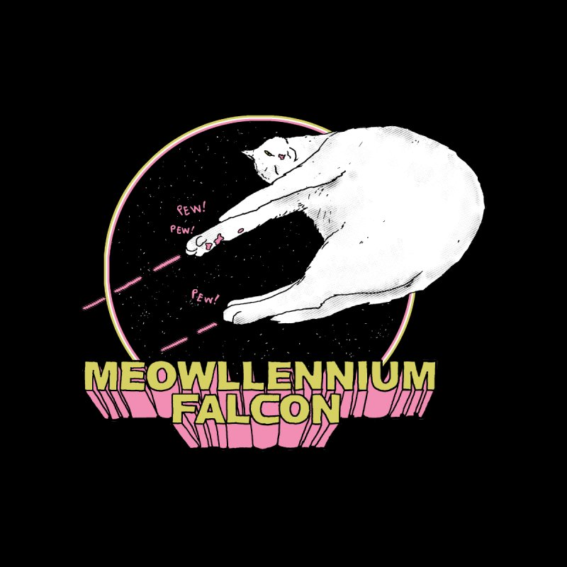 Meowllennium Falcon Men's T-Shirt by Threadless Artist Shop