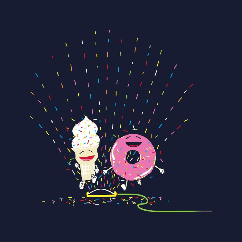 Playin' In The Sprinkler Men's T-Shirt by Threadless Artist Shop