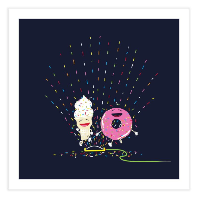 Playin' In The Sprinkler Home Fine Art Print by Threadless Artist Shop