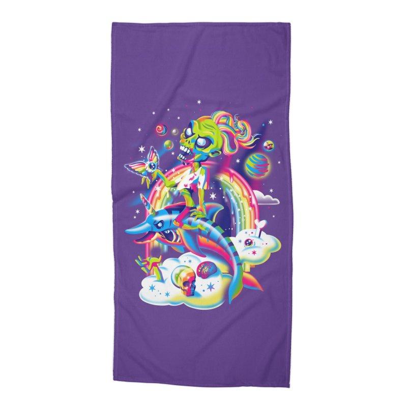 Rainbow Apocalypse Accessories Beach Towel by Threadless Artist Shop