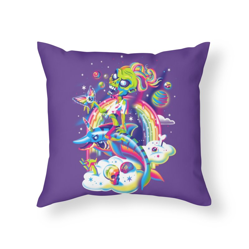 Rainbow Apocalypse Home Throw Pillow by Threadless Artist Shop