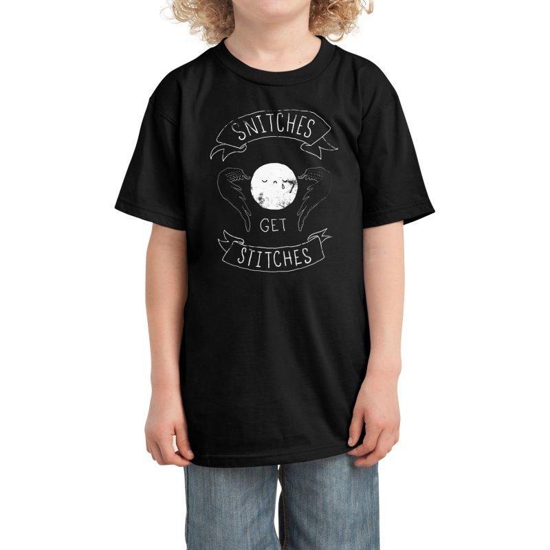 Snitches Get Stitches Kids T-Shirt by Threadless Artist Shop