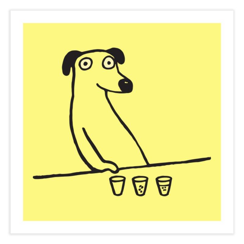Dog Drunkard Home Fine Art Print by Threadless Artist Shop