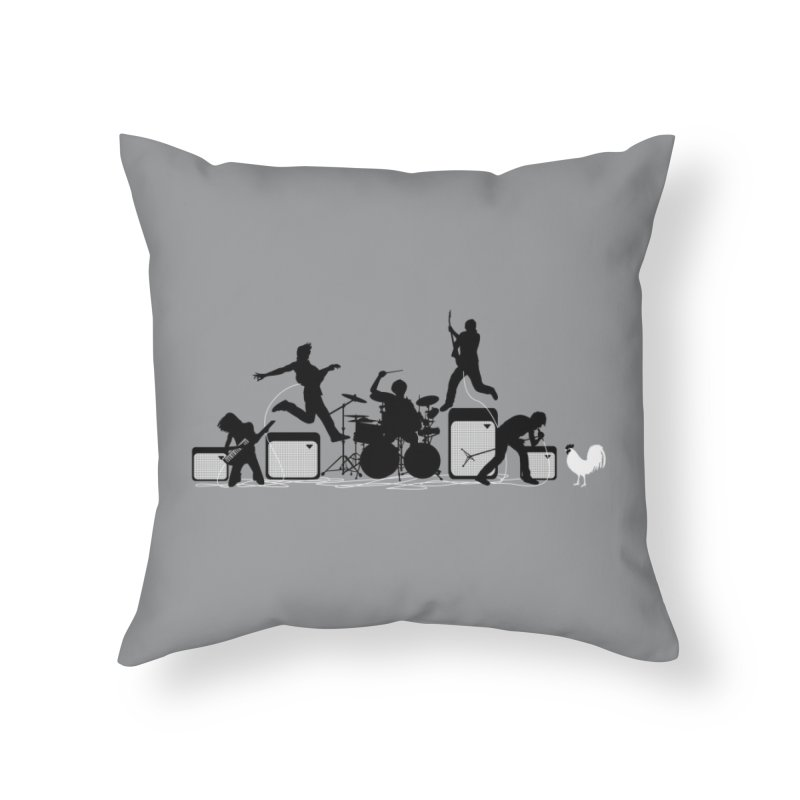 Rock Out With Your Cock Out Home Throw Pillow by Threadless Artist Shop