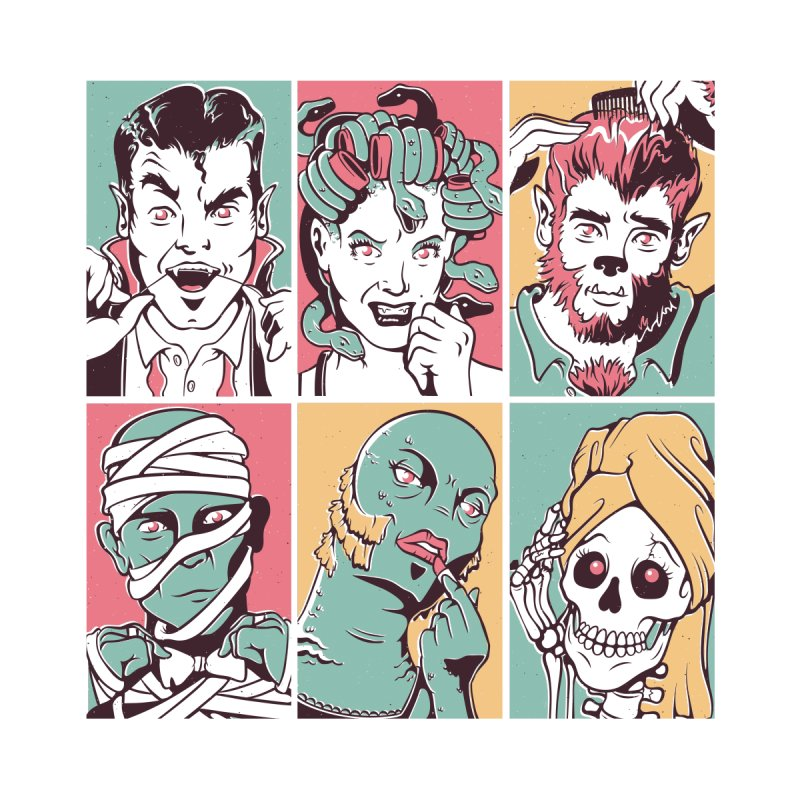 The Monster Mash Home Fine Art Print by Threadless Artist Shop