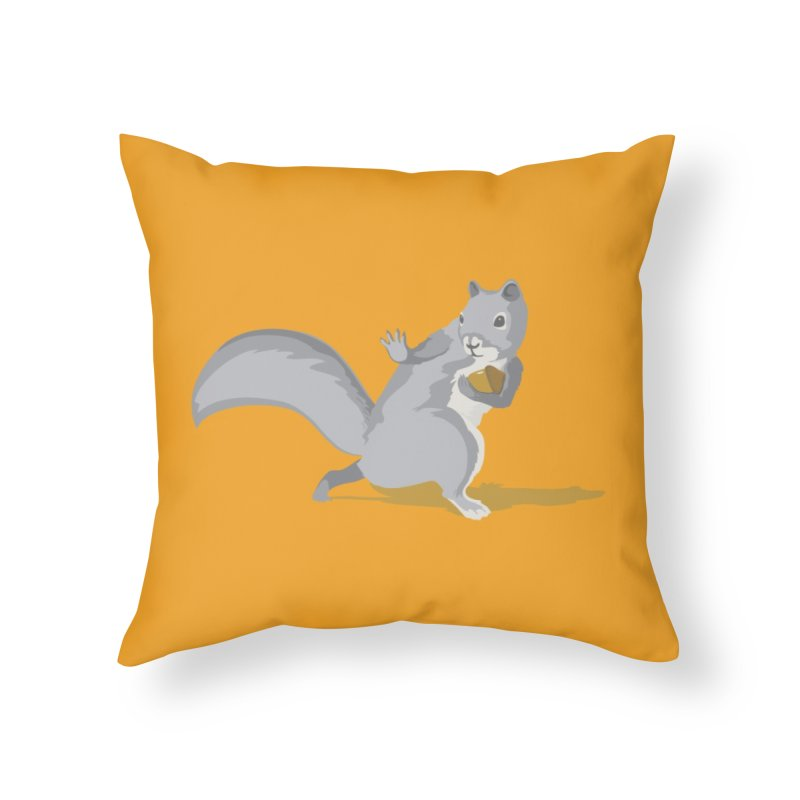 All-Conference Squirrel Home Throw Pillow by Threadless Artist Shop
