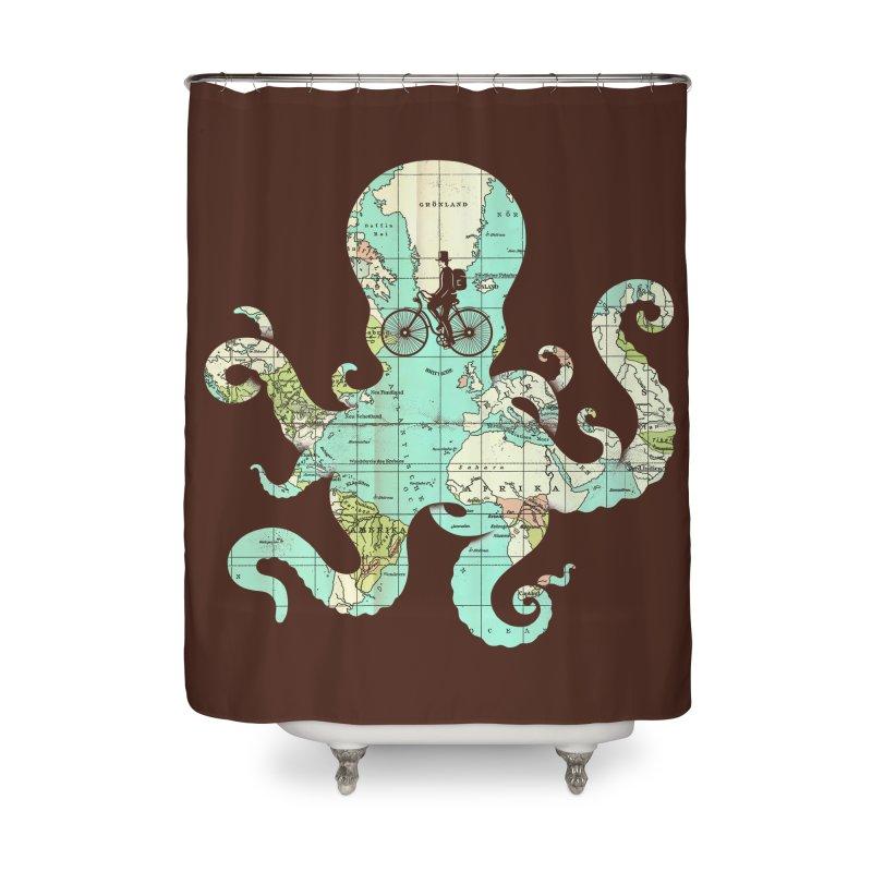 All Around the World Home Shower Curtain by Threadless Artist Shop