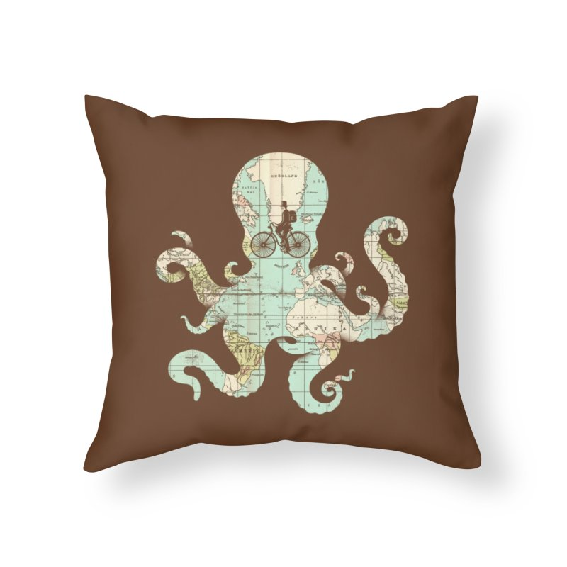 All Around the World Home Throw Pillow by Threadless Artist Shop