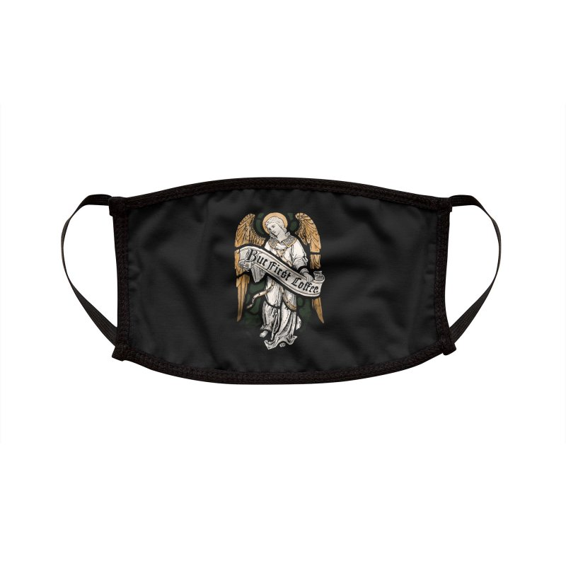 Holy Coffee Accessories Face Mask by Threadless Artist Shop