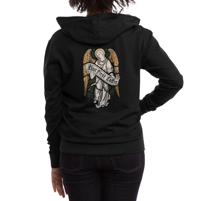 Holy Coffee Women's Zip-Up Hoody by Threadless Artist Shop