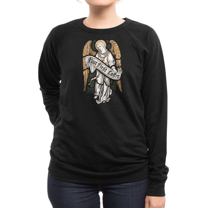Holy Coffee Women's Sweatshirt by Threadless Artist Shop